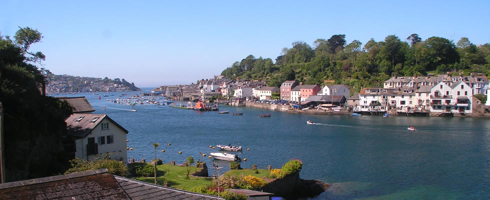 Views across the river towards the town of Fowey